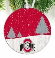 Ohio State Buckeyes Snow Scene Ornament