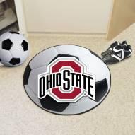 Ohio State Buckeyes Soccer Ball Mat