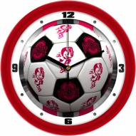 Ohio State Buckeyes Soccer Wall Clock