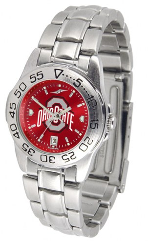 Ohio State Buckeyes Sport Steel AnoChrome Women's Watch