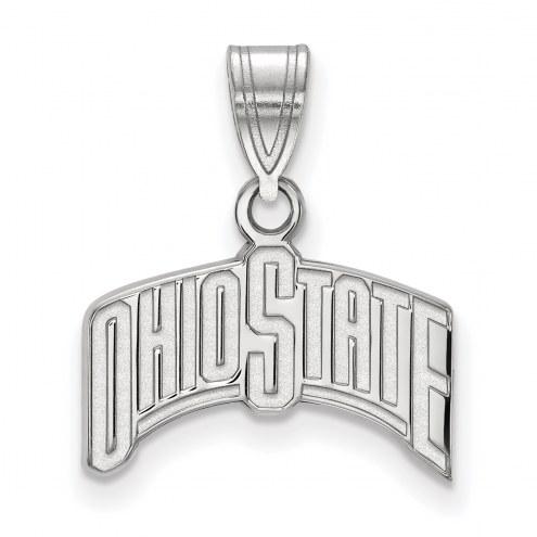 Ohio State Buckeyes Sterling Silver Medium Pendant