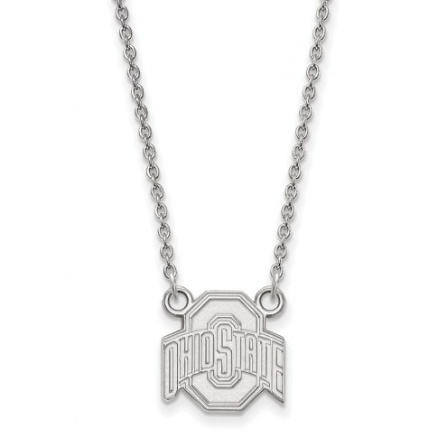 Ohio State Buckeyes Sterling Silver Small Pendant Necklace