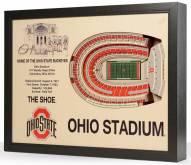 Ohio State Buckeyes 25-Layer StadiumViews 3D Wall Art