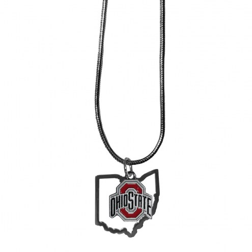Ohio State Buckeyes State Charm Necklace