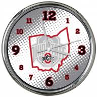 Ohio State Buckeyes State of Mind Chrome Clock