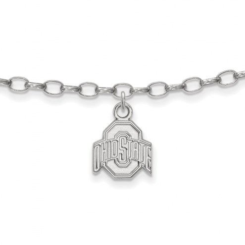 Ohio State Buckeyes Sterling Silver Anklet