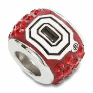 Ohio State Buckeyes Sterling Silver Charm Bead