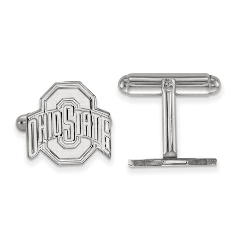 Ohio State Buckeyes Sterling Silver Cuff Links