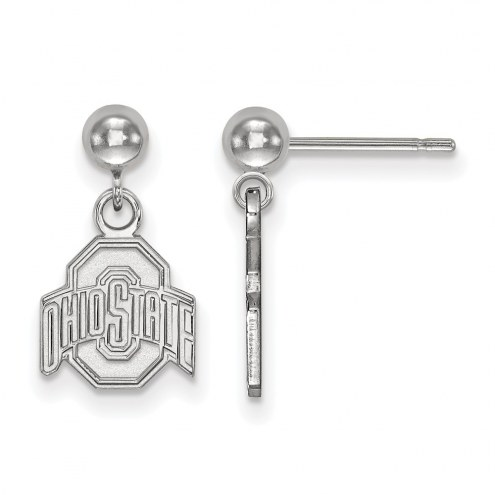 Ohio State Buckeyes Sterling Silver Dangle Ball Earrings