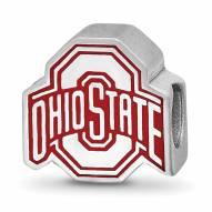 Ohio State Buckeyes Sterling Silver Enameled Bead