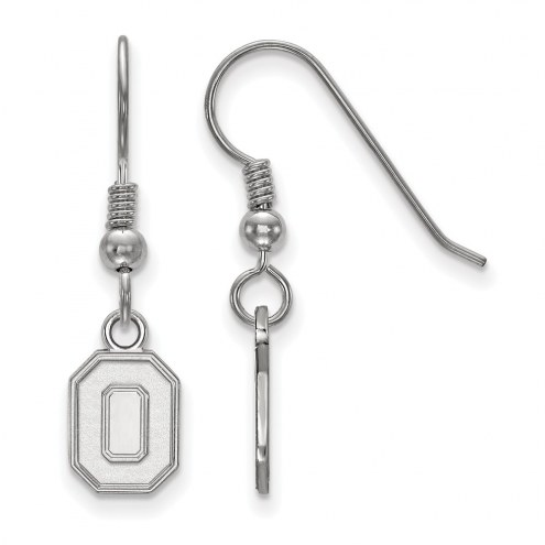 Ohio State Buckeyes Sterling Silver Extra Small Dangle Earrings