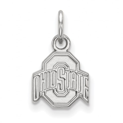 Ohio State Buckeyes Sterling Silver Extra Small Pendant
