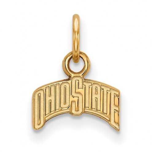 Ohio State Buckeyes Sterling Silver Gold Plated Extra Small Pendant