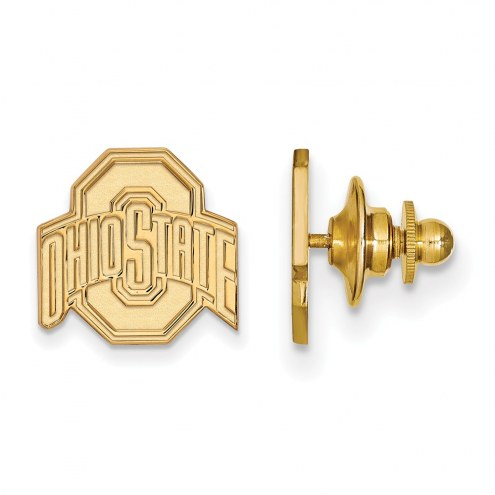 Ohio State Buckeyes Sterling Silver Gold Plated Lapel Pin