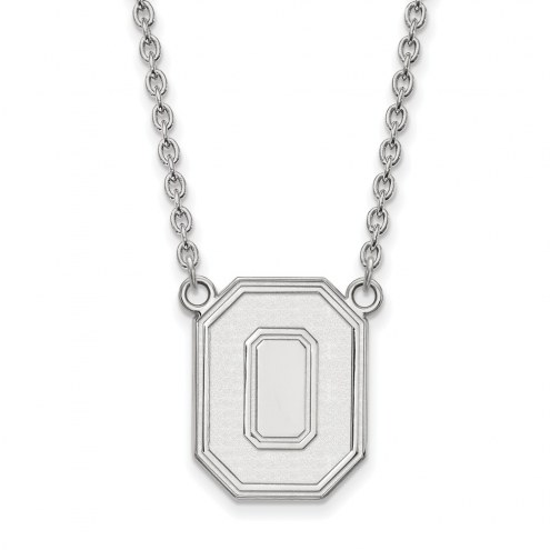 Ohio State Buckeyes Sterling Silver Large Pendant Necklace