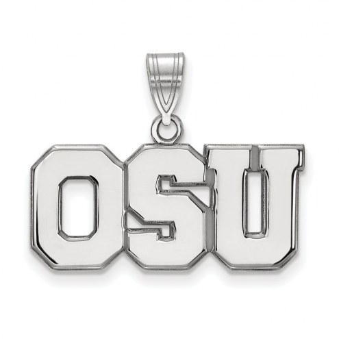 Ohio State Buckeyes Sterling Silver Large Pendant