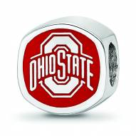 Ohio State Buckeyes Sterling Silver Logo Bead