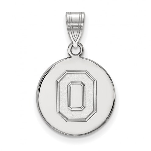 Ohio State Buckeyes Sterling Silver Medium Disc Pendant