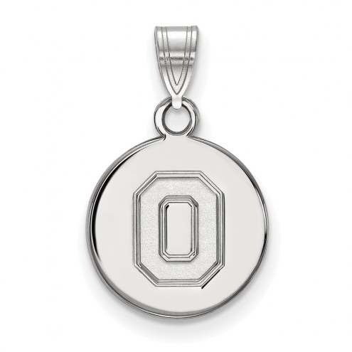 Ohio State Buckeyes Sterling Silver Small Disc Pendant