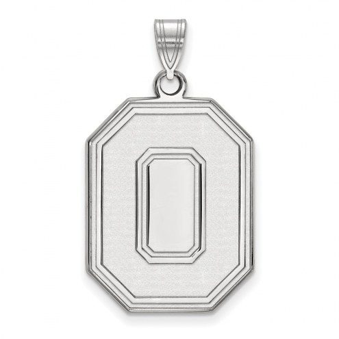Ohio State Buckeyes Sterling Silver Extra Large Pendant