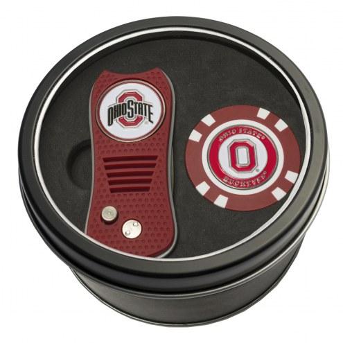 Ohio State Buckeyes Switchfix Golf Divot Tool & Chip