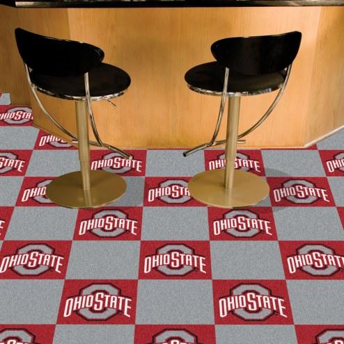 Ohio State Buckeyes Team Carpet Tiles