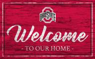 Ohio State Buckeyes Team Color Welcome Sign