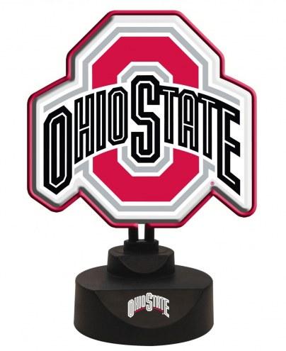 Ohio State Buckeyes Team Logo Neon Light