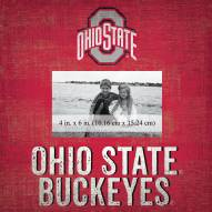 """Ohio State Buckeyes Team Name 10"""" x 10"""" Picture Frame"""