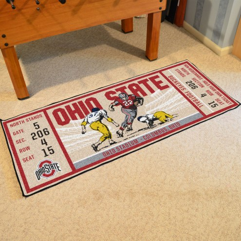 Ohio State Buckeyes Ticket Runner Rug