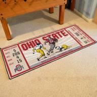 Ohio State Buckeyes Ticket Runner Rug