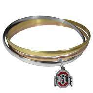 Ohio State Buckeyes Tri-color Bangle Bracelet