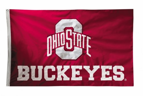 Ohio State Buckeyes Two Sided 3' x 5' Flag