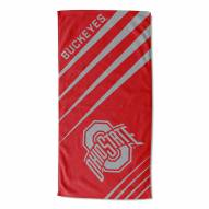 Ohio State Buckeyes Upward Beach Towel