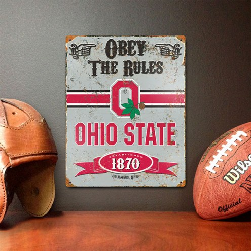 Ohio State Buckeyes Vintage Metal Sign