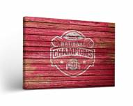 Ohio State Buckeyes Weathered Canvas Wall Art