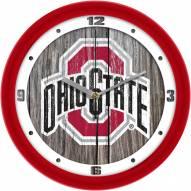Ohio State Buckeyes Weathered Wall Clock