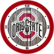 Ohio State Buckeyes Weathered Wall Clock