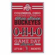Ohio State Buckeyes Established Wood Sign