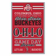 Ohio State Buckeyes Established Wood Sign