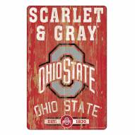 Ohio State Buckeyes Slogan Wood Sign