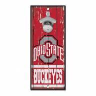 Ohio State Buckeyes Wood Bottle Opener