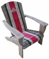 Ohio State Buckeyes Wooden Adirondack Chair