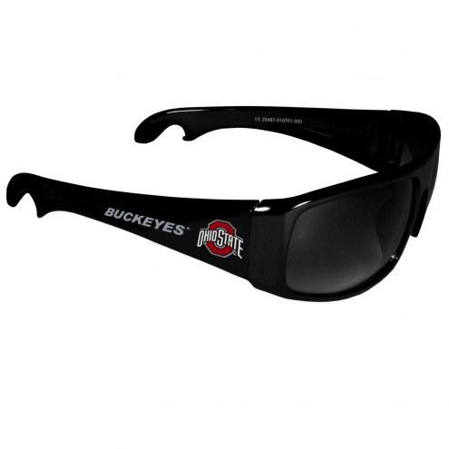 Ohio State Buckeyes Wrap Bottle Opener Sunglasses