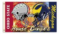Ohio State/Michigan 3' x 5' House Divided Helmet Flag