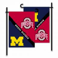 Ohio State/Michigan House Divided Garden Flag