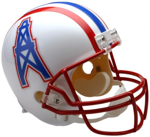 Riddell Houston Oilers 1991-96 VSR4 Collectible Throwback NFL Football Helmet