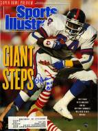 "OJ Anderson Signed 1/28/91 Sports Illustrated Magazine w/ ""SB XXV MVP"""