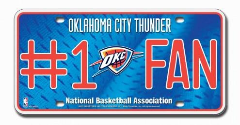 Oklahoma City Thunder #1 Fan License Plate