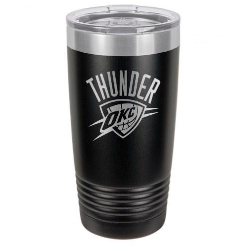 Oklahoma City Thunder 20 oz. Black Stainless Steel Polar Tumbler